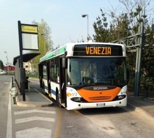 Transporte en Venecia: Autobús en Mestre