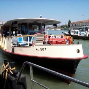 Transporte en Venecia: Vaporetto en el gran canal