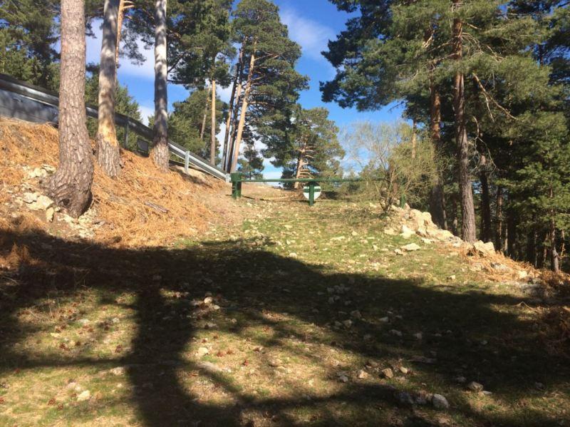 Pequeño ascenso en la ruta de la Sierra de Guadarrama