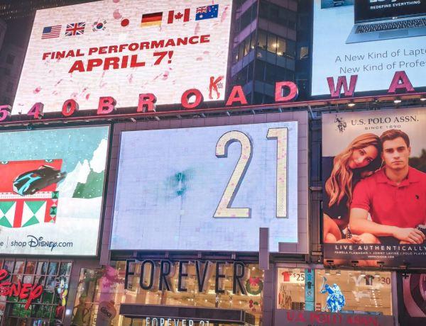 Carteles en Broadway