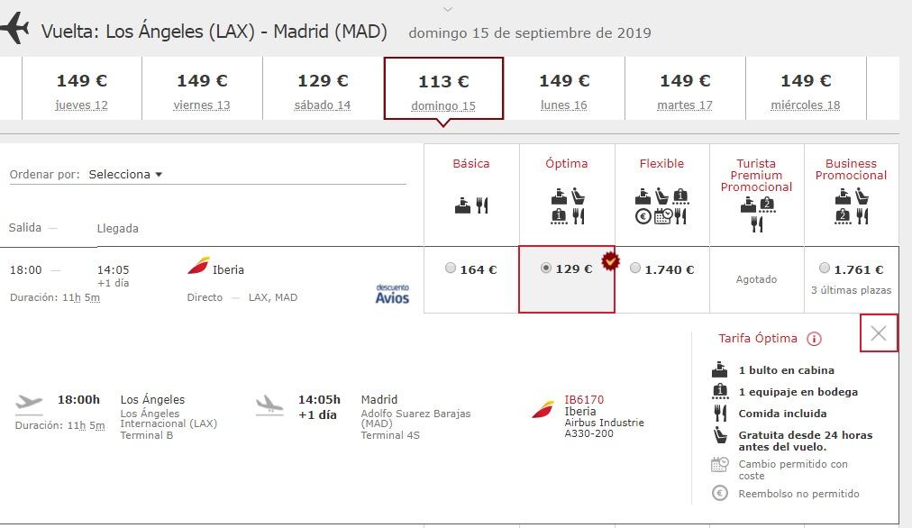 Captura vuelo Iberia