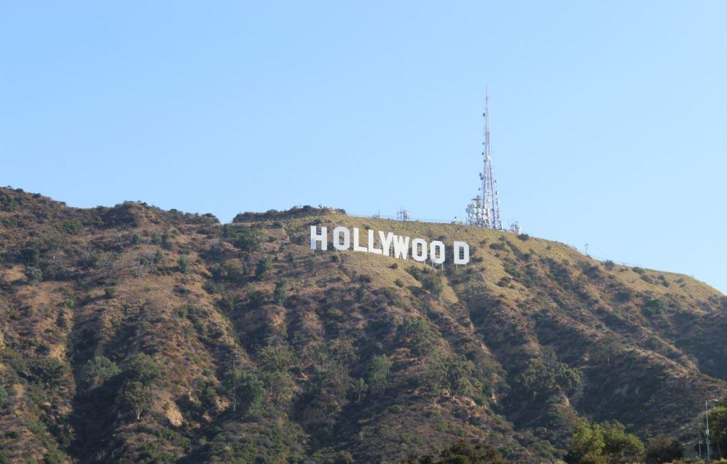 Cartel de Hollywood desde Lake Park