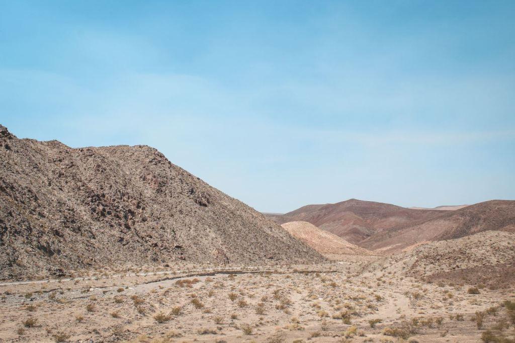 Llegando a Death Valley