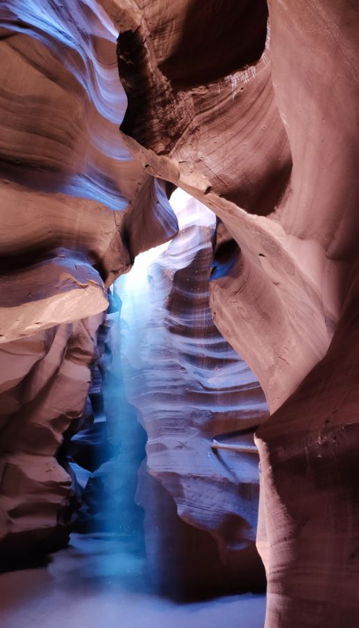 Haz de luz en Antelope Canyon