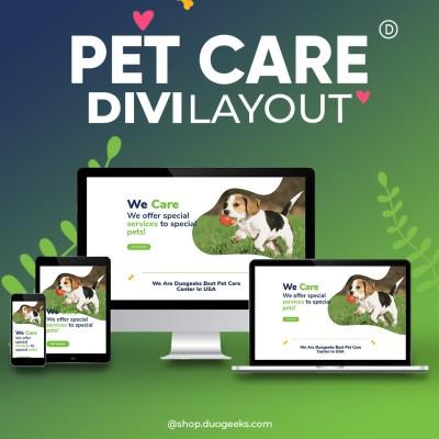 Divi Pet Care Layout