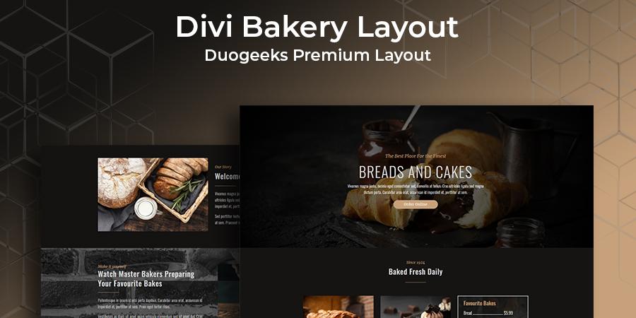 Divi Bakery Layout