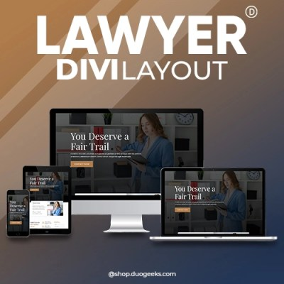 Divi Lawyer Layout Elegant