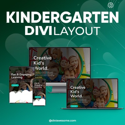 Divi Kindergarten Layout