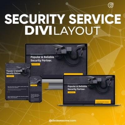 Divi Security Service Layout