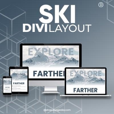 Divi Ski Layout