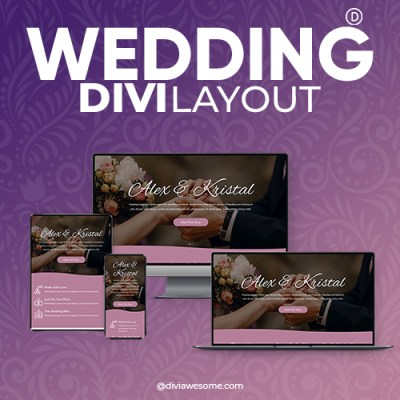Divi Wedding Layout