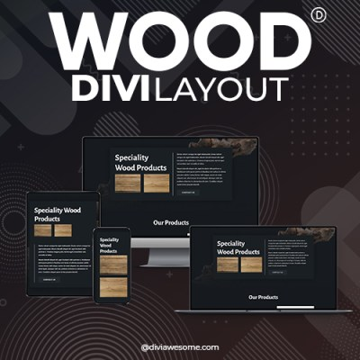 Divi Wood Layout