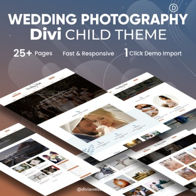 Divi wedding Photography Child Theme