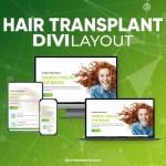 Divi Hair Transplant Layout