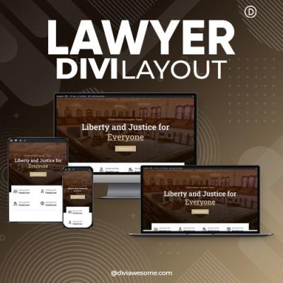Divi Lawyer Layout