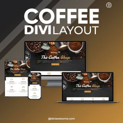Divi Coffee Layout