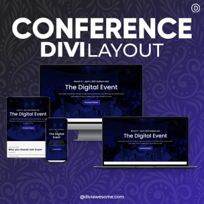 Divi Conference Layout