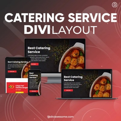 Divi Catering Service Layout 2