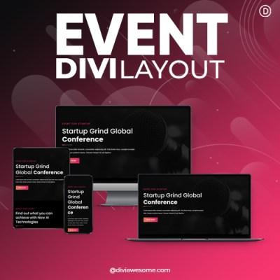 Divi Event Layout