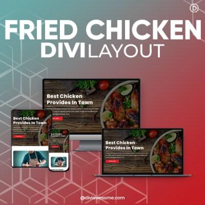Divi Fried Chicken Layout
