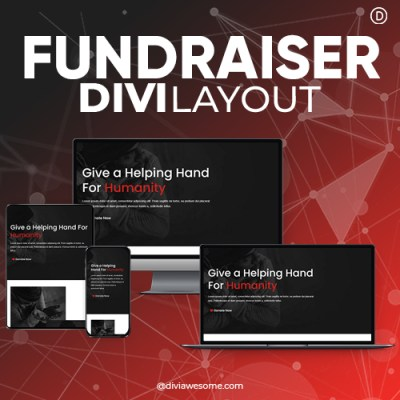 Divi Fundraiser Layout