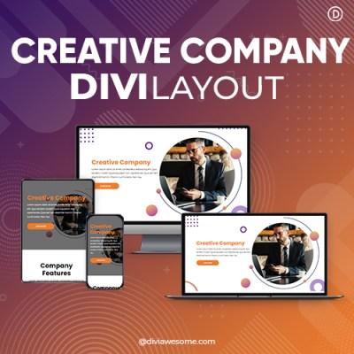 Divi Creative Company Layout