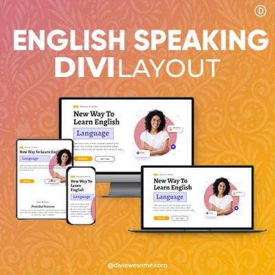 Divi English Speaking Layout