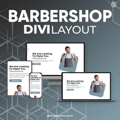 Divi Barbershop Layout