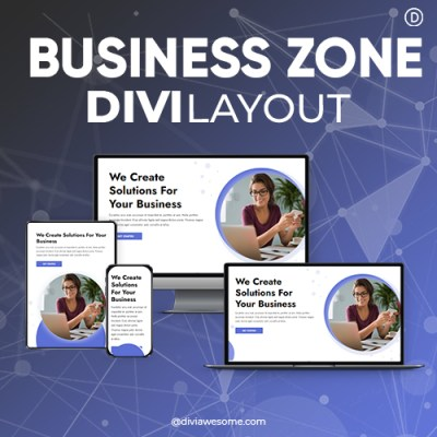 Divi Business Zone Layout