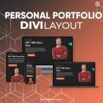 Divi Personal Portfolio Layout