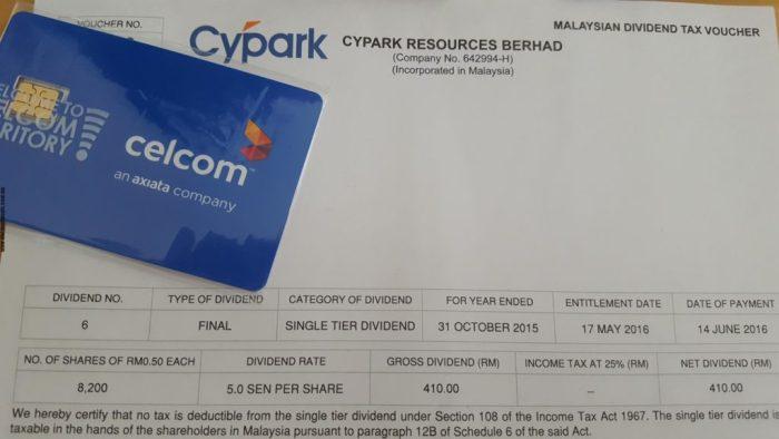 Dividend - Cypark
