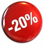 20 percent discount red round