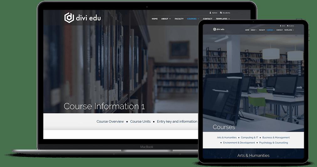 Multi-page Divi Education Website