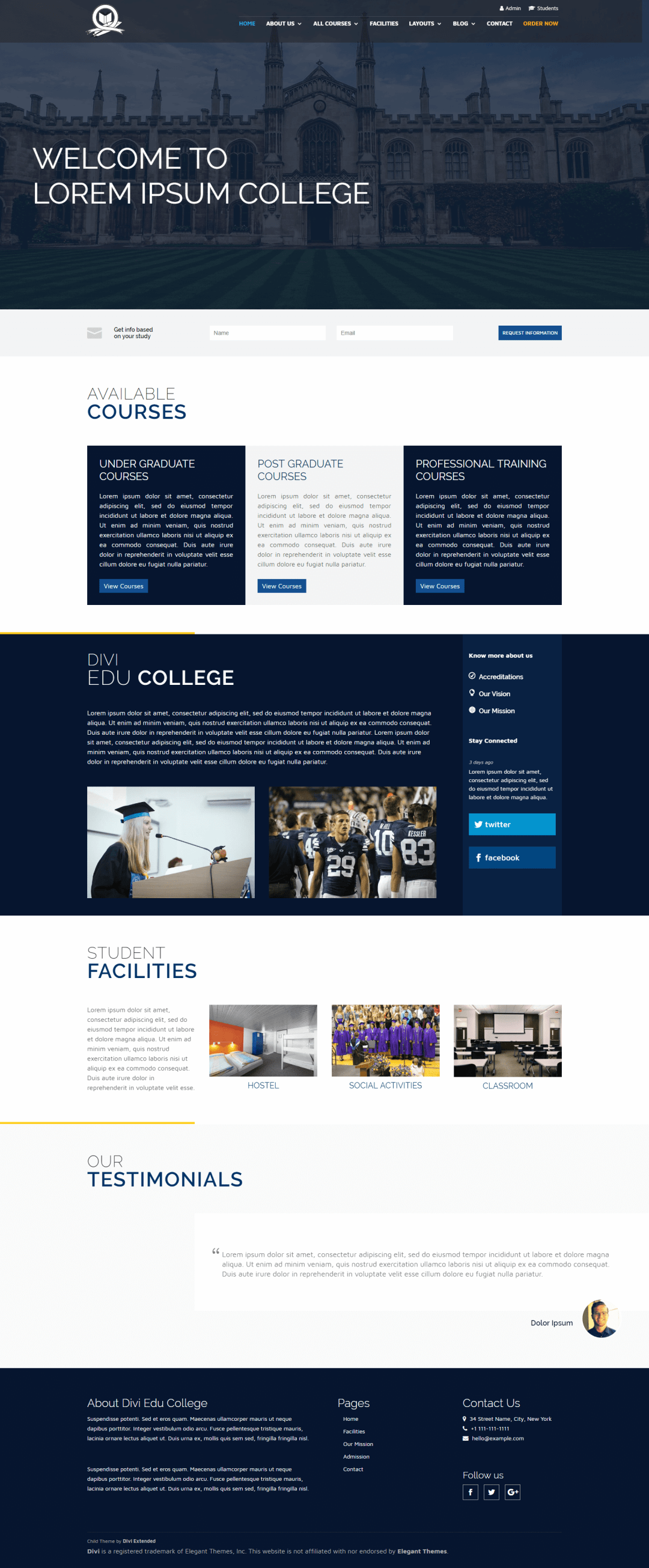 Divi School Layout