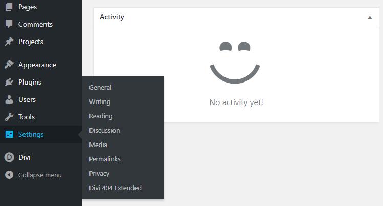 Divi 404 Page Building Plugin