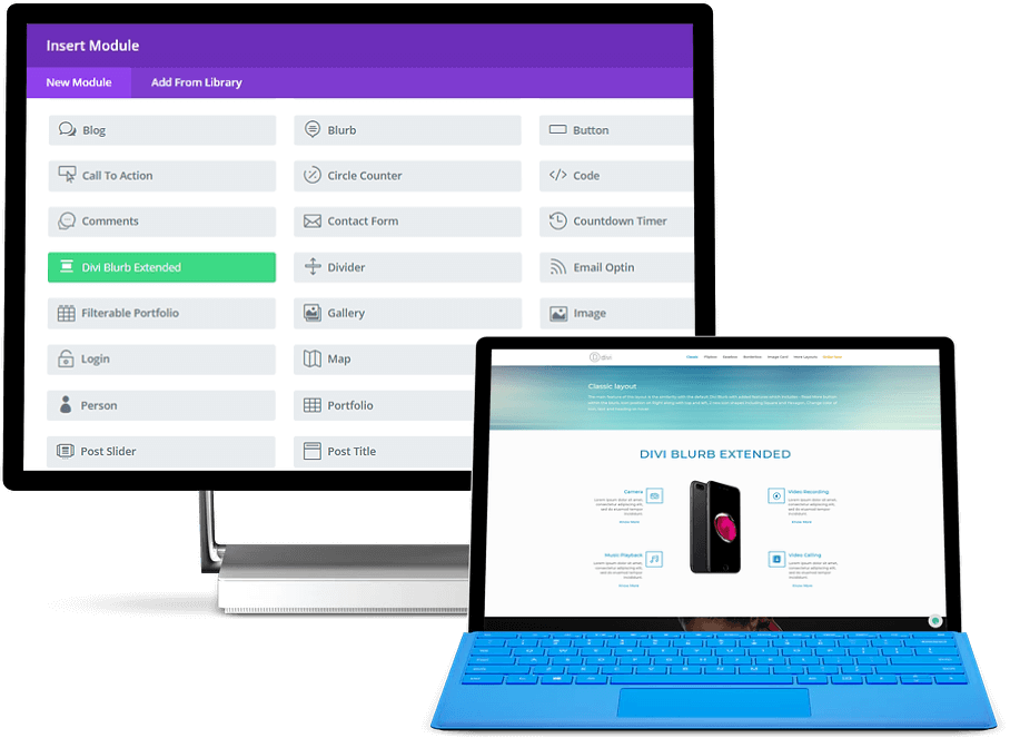 divi blurb module