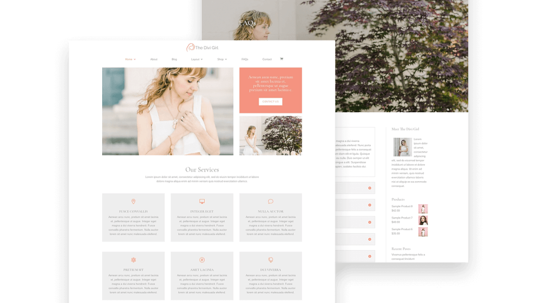 Divi Girl feminine child theme