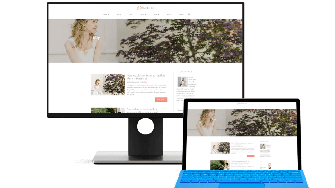 Divi blogging theme
