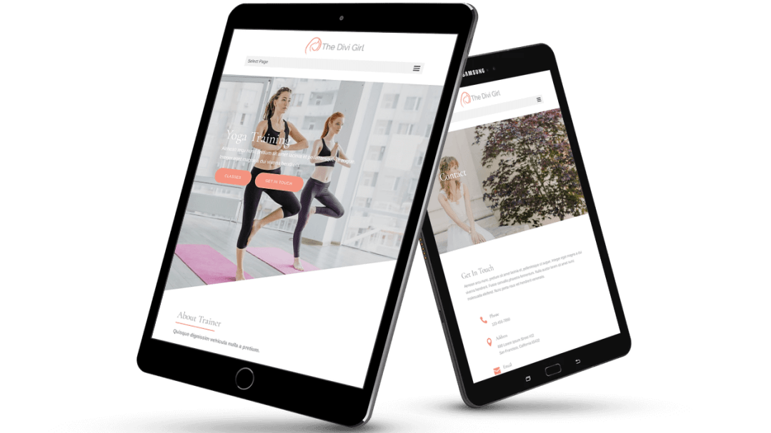 Yoga trainer Divi child theme