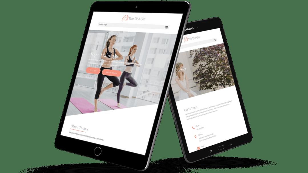 Yoga trainer Divi child theme