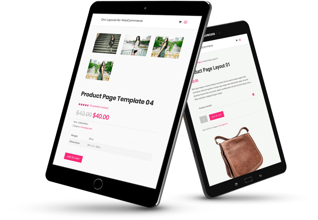 Divi WooCommerce product page templates