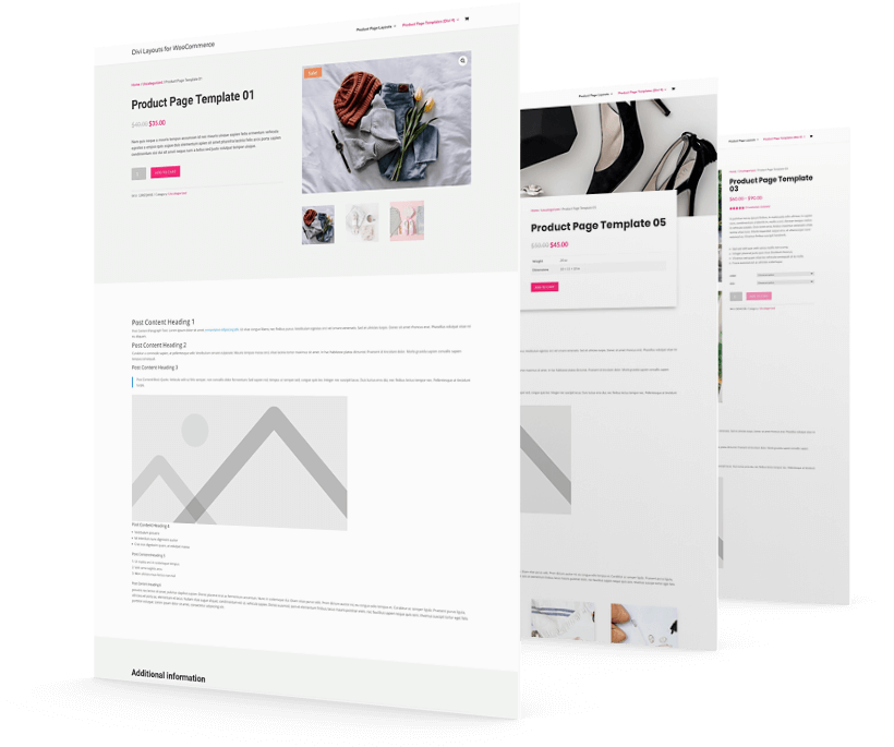 Divi WooCommerce product pages