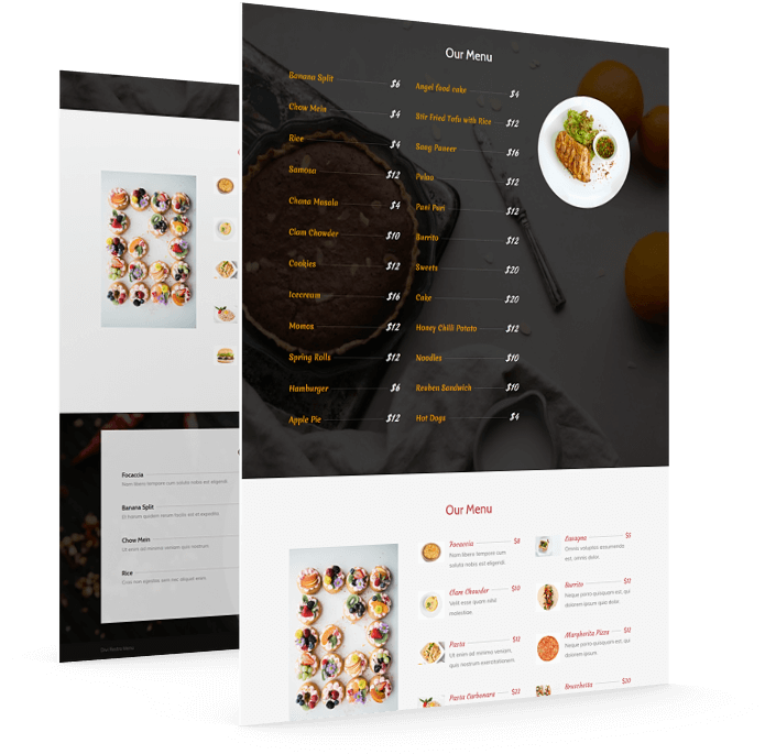 Divi restaurant menu plugin
