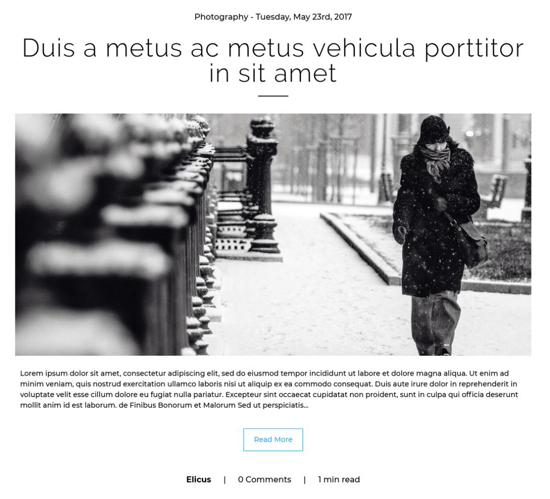 Divi Blog Extras' Classic Layout