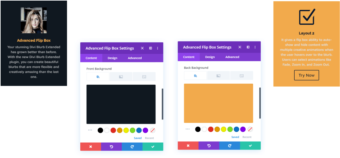 Flip Box Background Color Setting