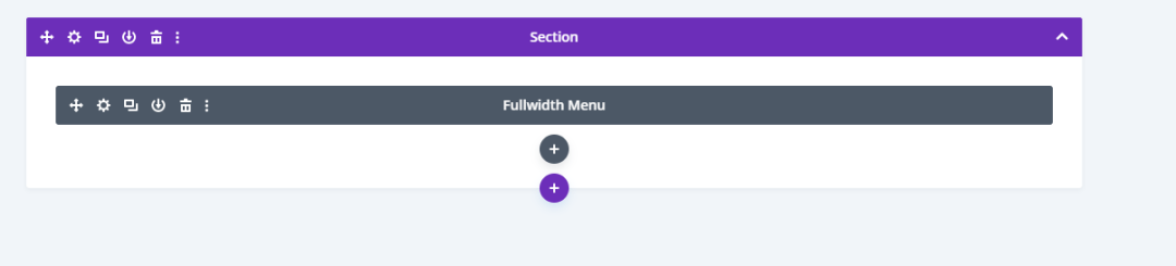 Custom Header Section with Divi theme builder(module view)