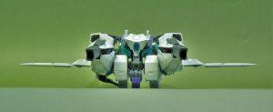 可変型バーゼラルド試験機バスタード 飛行形態正面