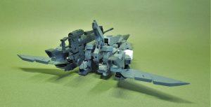 改良型空戦可変機リーンデルタ 飛行形態リアビュー