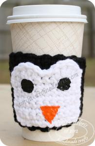Penguin mug cozy by DivineDebris.com