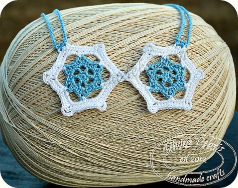Snowflake necklace pattern by DivineDebris.com